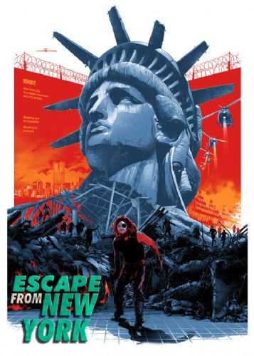 1980's Movie - ESCAPE FROM NEW YORK - P4 / canvas print - self adhesive poster - photo print